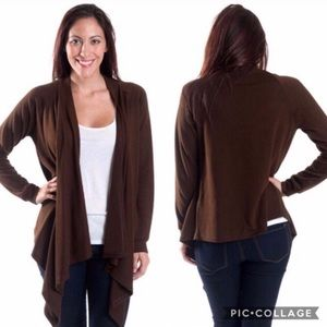 Chocolate Waterfall Cardigan